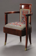 Furniture: French, An Art Deco Armchair From The Normandie. Designed Maurice Pre,executed by B. Spade Decorateurs. Paris, France, c.1934A maho...