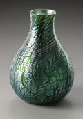 Art Glass:Loetz, An Austrian Glass Vase. Loetz, c.1900. The iridescent 'pulledfeather' pattern vase, marked underside Loetz Austria...