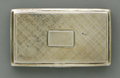 Silver Smalls:Snuff Boxes, An English Silver Snuff Box. Nathaniel Mills, Birmingham, England,1836. The snuff box decorated with a crosshatch pat...