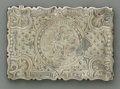 Silver Smalls:Other , An English Silver Calling Card Case. George R. Unite, Birmingham,England, 1868. The hinged lid decorated card case, m...