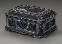 A Russian Silver and Enamel Box Antip Ivanovich Kuzmichev, Moskow, Russia, 1894  The silver box with an ornate enamel