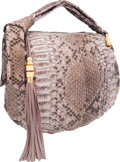 "Luxury Accessories:Bags, Gucci Gray Python Jungle Hobo Bag with Bamboo Hardware.Excellent Condition. 16"" Width x 12"" Height x 5""Depth. ..."