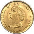 Colombia, Colombia: Republic gold 16 Pesos 1847 B-RS MS64 PCGS,...