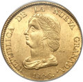 Colombia, Colombia: Republic gold 16 Pesos 1846 B-RS MS61 PCGS,...