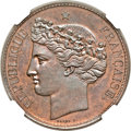 Chile, Chile: Republic copper Pattern Peso 1851 MS64 Brown NGC,...