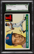 Baseball Cards:Singles (1950-1959), 1955 Topps Ted Williams #2 SGC 84 NM 7....