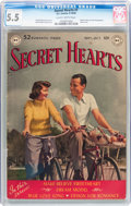 Golden Age (1938-1955):Romance, Secret Hearts #1 (DC, 1949) CGC FN- 5.5 Slightly brittle pages....