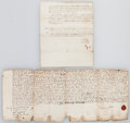 Miscellaneous:Ephemera, [King William III and Queen Anne]. Group of Two 18th Century LandDocuments from the Reigns of King William III and Queen Anne...(Total: 2 Items)