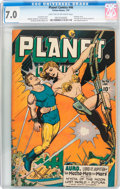 Golden Age (1938-1955):Science Fiction, Planet Comics #46 (Fiction House, 1947) CGC FN/VF 7.0 Light tan to off-white pages....