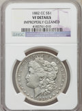 Morgan Dollars, 1882-CC $1 -- Improperly Cleaned -- NGC Details. VF. NGC Census: (16/15079). PCGS Population (34/29011). Mintage: 1,133,000...