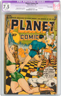 Golden Age (1938-1955):Science Fiction, Planet Comics #34 (Fiction House, 1945) CGC Apparent VF- 7.5 Slight(A) Cream to off-white pages....
