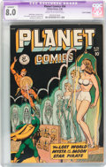 Golden Age (1938-1955):Science Fiction, Planet Comics #56 (Fiction House, 1948) CGC Apparent VF 8.0 Creamto off-white pages....