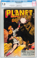 Golden Age (1938-1955):Science Fiction, Planet Comics #47 (Fiction House, 1947) CGC FN/VF 7.0 Cream tooff-white pages....