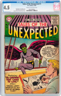 Silver Age (1956-1969):Science Fiction, Tales of the Unexpected #1 (DC, 1956) CGC VG+ 4.5 Cream tooff-white pages....