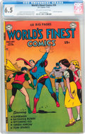 Golden Age (1938-1955):Superhero, World's Finest Comics #56 (DC, 1952) CGC FN+ 6.5 Off-white to white pages....