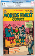 Golden Age (1938-1955):Superhero, World's Finest Comics #70 (DC, 1954) CGC VG/FN 5.0 Cream to off-white pages....