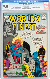 World's Finest Comics #111 (DC, 1960) CGC VF/NM 9.0 Off-white pages