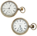 Timepieces:Pocket (post 1900), Hampden & Elgin 18 Size Pocket Watches. ... (Total: 2 Items)