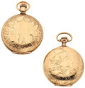 Timepieces:Pocket (post 1900), Two Lady's Hunter's Case Pocket Watches. ... (Total: 2 Items)