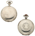 Timepieces:Pocket (post 1900), Hampden & Elgin 18 Size Pocket Watches Runners. ... (Total: 2Items)