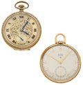 Timepieces:Pocket (post 1900), Elgin & Bulova 12 Size Pocket Watches Runners. ... (Total: 2Items)