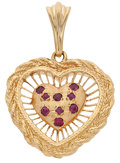 Estate Jewelry:Pendants and Lockets, Ruby, Gold Pendant. ...