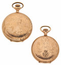 Timepieces:Pocket (post 1900), Hampden & Waltham Lady's Hunter Cases. ... (Total: 2 Items)