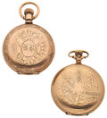 Timepieces:Pocket (post 1900), Elgin & Waltham Hunter Case Pocket Watches. ... (Total: 2Items)