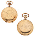 Timepieces:Pocket (post 1900), Illinois & Waltham Hunter Case Pocket Watches Runners. ...(Total: 2 Items)