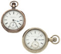 Timepieces:Pocket (post 1900), Mermod Jaccard Key Wind & Hampden Pocket Watches Runners. ... (Total: 2 Items)