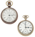 Timepieces:Pocket (post 1900), Two Waltham's 18 Size Pocket Watches Runners. ... (Total: 2 Items)