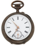 Timepieces:Pocket (post 1900), Swiss Silver Open Face Pocket Watch. ...