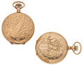 Timepieces:Pocket (post 1900), Two Elgin Hunter's Case Pocket Watches. ... (Total: 2 Items)