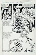 Original Comic Art:Splash Pages, Sal Buscema and Don Perlin Captain America #236 Splash Page11 Original Art (Marvel, 1979)....