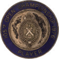 Golf Collectibles:Medals/Jewelry, 1976 British Open Championship Player Badge From The Sam SneadCollection....