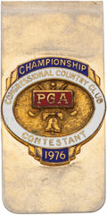 Golf Collectibles:Medals/Jewelry, 1976 PGA Championship Money Clip/Contestant Badge From The SamSnead Collection....