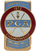 Golf Collectibles:Medals/Jewelry, 1972 PGA Championship Contestant Money Clip From The Sam SneadCollection....