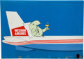 "Animation Art:Production Cel, Western Airlines ""Wally Bird"" Production Cel Setup Animation Art(c. 1960s).... (Total: 4 Original Art)"
