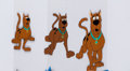 Animation Art:Production Cel, Scooby Doo Sequenced Production Cels and Drawings AnimationArt Group (Hanna-Barbera, 1970-80s).... (Total: 6 Original Art)