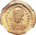 Ancients:Roman Imperial, Ancients: Marcian, Eastern Roman Emperor (AD 450-457). AV solidus(20mm, 4.47 gm, 6h)....