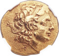 Ancients:Greek, Ancients: THRACIAN KINGDOM. Lysimachus (323-281 BC). AV stater (21mm, 8.23 gm, 11h)....