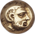 Ancients:Greek, Ancients: LESBOS. Mytilene. Ca. 412-378 BC. EL hecte (9mm, 2.51 gm,3h)....
