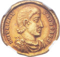 Ancients:Roman Imperial, Ancients: Julian II, as Caesar (AD 355-360). AV solidus (20mm, 4.46 gm, 5h)....