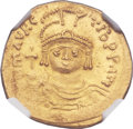 Ancients:Byzantine, Ancients: Maurice Tiberius (AD 582-602). AV lightweight solidus of22 siliquae (21mm, 4.10 gm, 6h)....