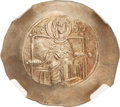 Ancients:Byzantine, Ancients: Isaac II Angelus, first reign (1185-1195). EL asprontrachy (29mm, 4.22 gm, 6h)....