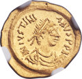 Ancients:Byzantine, Ancients: Justinian I the Great (527-565). AV tremissis (16mm, 1.50gm, 6h)....
