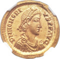 Ancients:Roman Imperial, Ancients: Honorius, Western Roman Emperor (AD 393-423). AV solidus (20mm, 4.49 gm, 12h)....