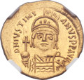 Ancients:Byzantine, Ancients: Justinian I the Great (AD 527-565). AV solidus (22mm, 4.44 gm, 6h). ...