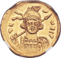 Ancients:Byzantine, Ancients: Constantine IV (AD 668-685). AV solidus (20mm, 4.40 gm,6h). ...