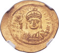 Ancients:Byzantine, Ancients: Justin II (AD 565-578). AV solidus (24mm, 4.47 gm,7h). ...